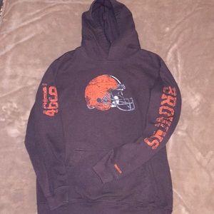 Reebok NFL Team Apparel Sz 14/16 browns hoodie